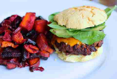 Paleo burger at Blooming Beets