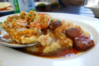 Shrimp and Grits at Blue Collar