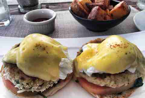 Eggs Benedict at Local House Miami Beach