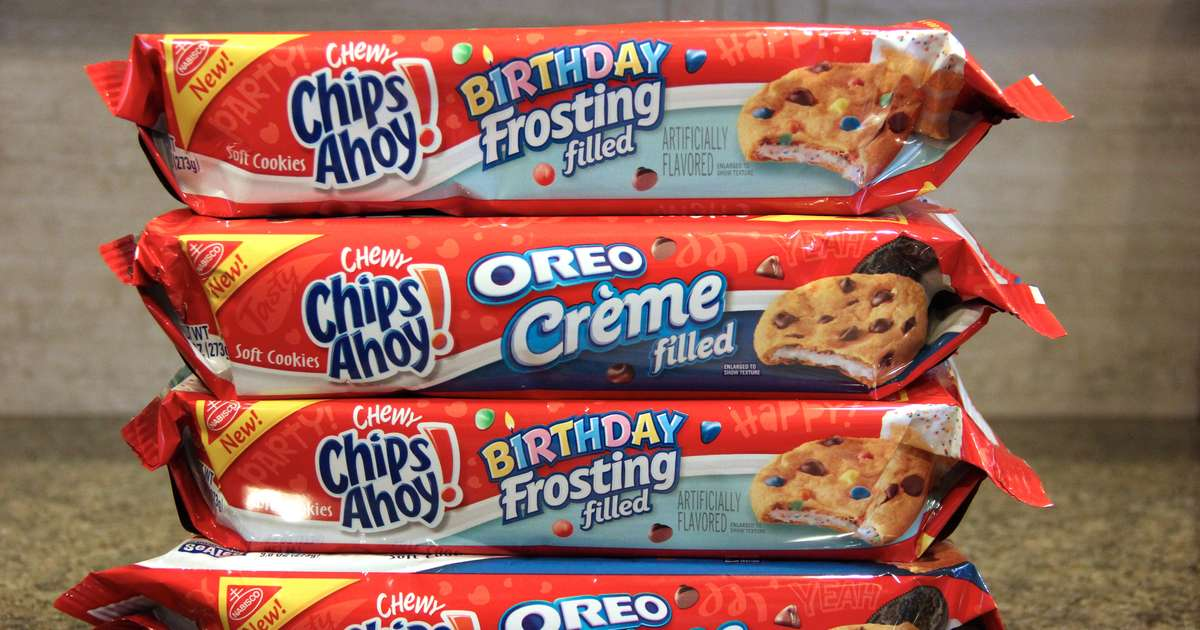 Enjoyable Chips Ahoy Oreo Creme Filled And Birthday Frosting Filled Cookies Birthday Cards Printable Trancafe Filternl
