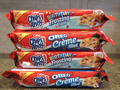 Chips Ahoy Birthday Frosting and Oreo Creme Filled Cookies