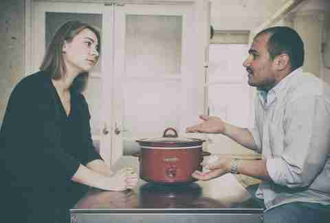 couple with crock-pot