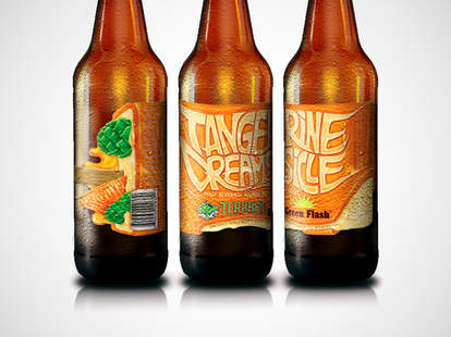 Tangerine Dreamsicle beer by Terrapin and Green Flash