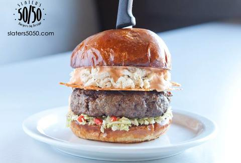 Slater's 50/50 Surf & Turf Burger