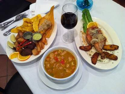spread of cuban food