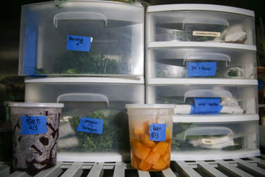 labeled food