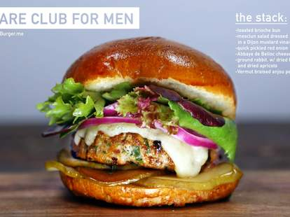 Hare Club for Men burger