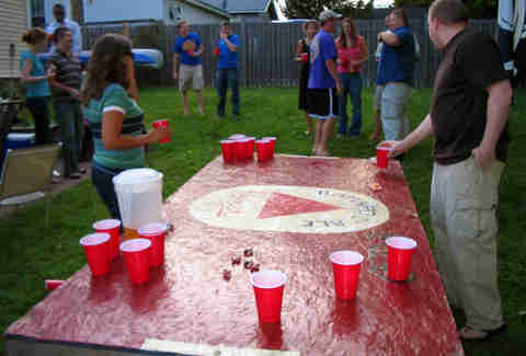 Beer Pong A History Of Beirut Americas Fun Drinking Game - Four corners drinking game
