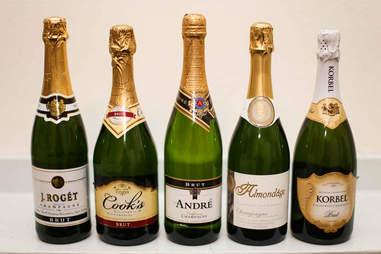 bottles of bubbly