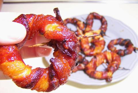 Sriracha bacon onion rings