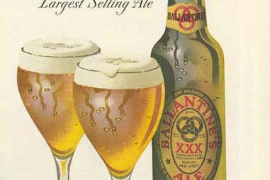 ballantine beer & ale poster