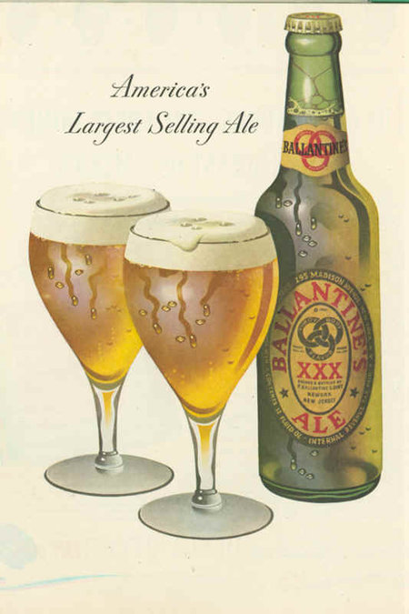 ballantine beer & ale poster