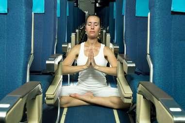 Yoga on an Airplane