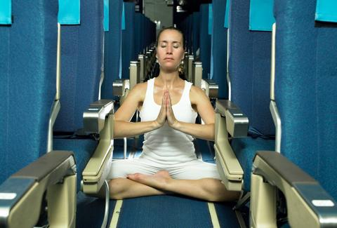 Yoga on an Airplane