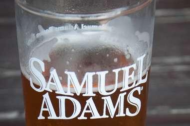 Samuel Adams beer in glass