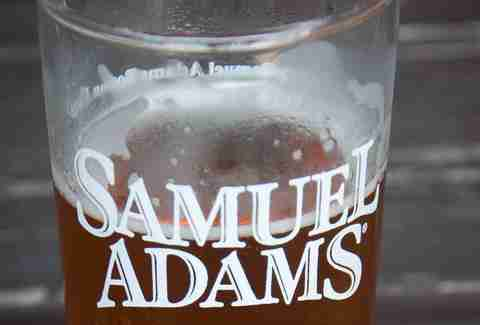 Samuel Adams beer in glass