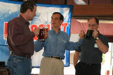 Jim Koch with Longshot winners