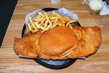 Indiana pork tenderloin sandwich