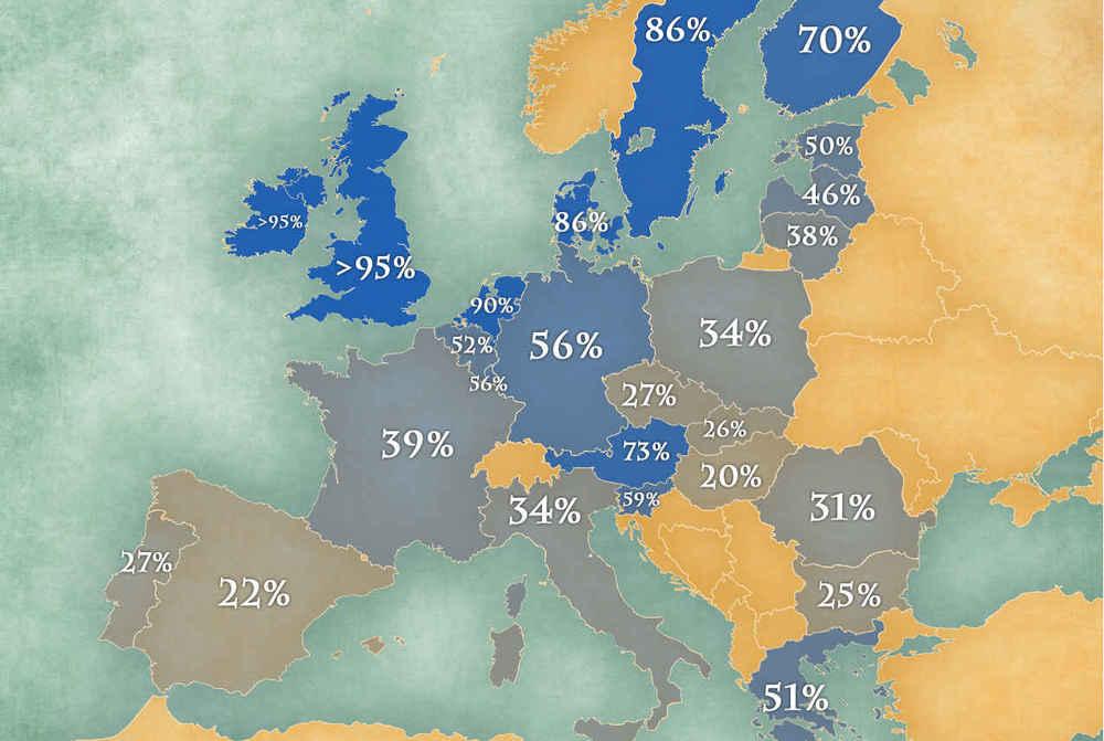 What Countries In Europe Speak English Thrillist - Which language speak most in the world