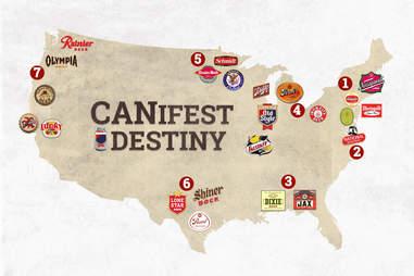canifest destiny map
