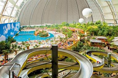 tropical islands pool and slide