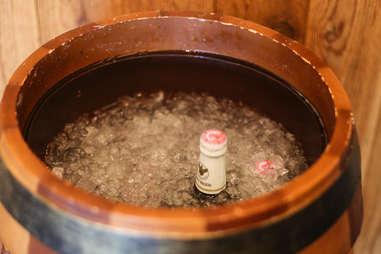beer in cooler