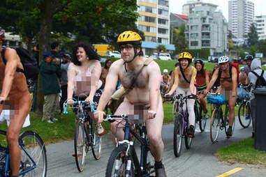 naked man biker