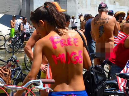 free hug naked girl