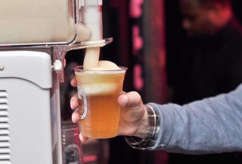 Kirin frozen beer foam machine