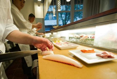 15 east nyc chef cut fish being prepared sushi