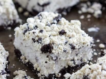 Cookies and cream ice cream bars