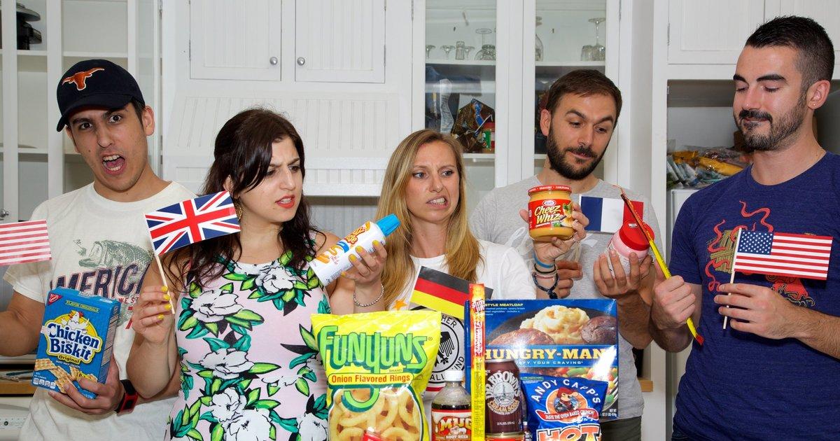 Europeans On American Food Europeans Taste Test American