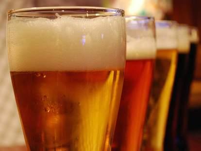Ellis Island Casino beer glass