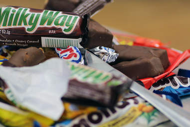 candy bar pile