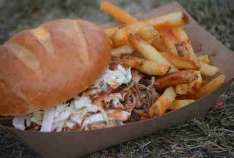 Pulled Pork and Fries Telluride Bluegrass Eats DEN
