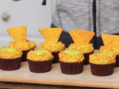 Doritos Mountain Dew cupcakes