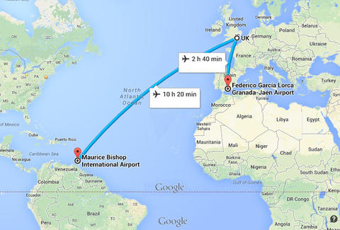 British airways grenada suit man sues ba for flying him to google maps gumiabroncs Gallery