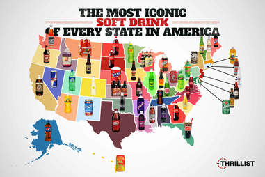 soft drink map