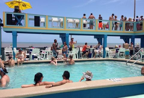 Float Pool & Patio Bar Galveston Drinking Guide HOU