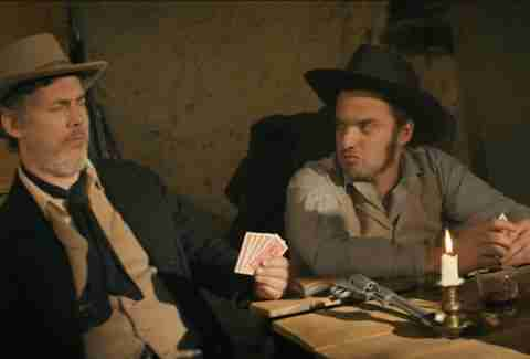 Chris Parnell as Jim Bowie and Jake Johnson as William B. Travis