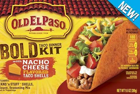 Old El Paso Nacho Cheese-Flavored Shells
