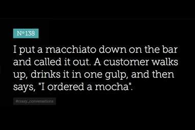 Bitter Barista macchiato vs. mocha
