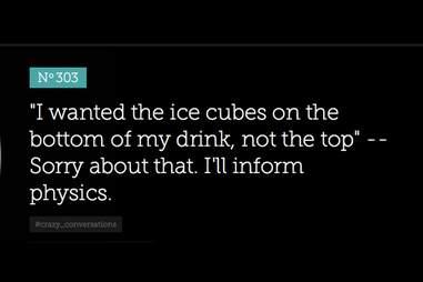 Bitter Barista ice cubes physics