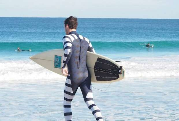 This wetsuit repels sharks