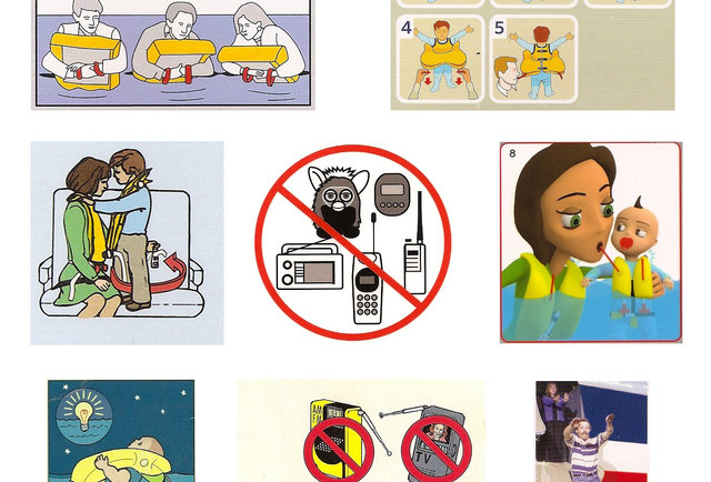 The 10 Funniest Airplane Safety Card Illustrations