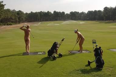 nude golfers