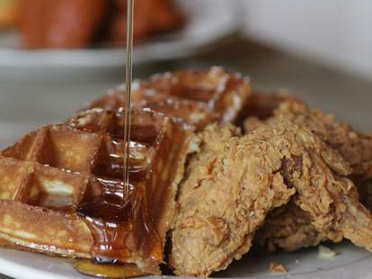 Chicken and waffles at Sweet Chick NYC