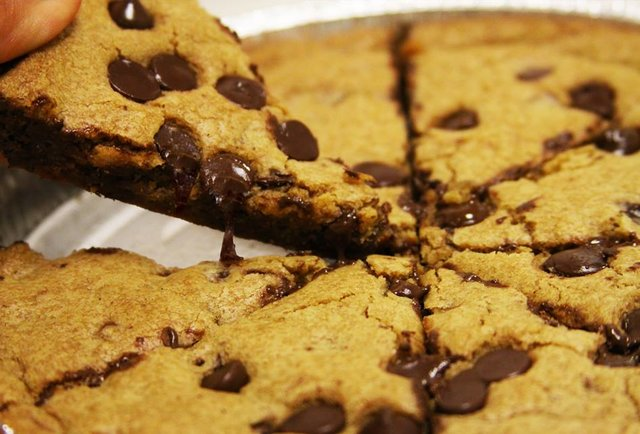 8 slices of ooey gooey goodness, jam-packed with % genuine Hershey's chocolate chips. May contain traces of awesome.