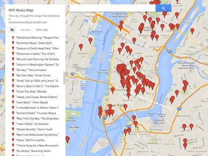 NYC Music Map NY