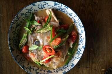 Sour Fish Head Soup at Yunnan Kitchen